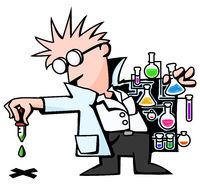 Scientist Test Droplet Color