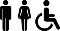 Abstract plaques, male and female toilet - Vector