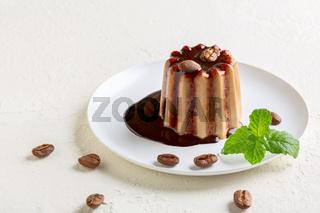 Traditional Italian dessert panna cotta.