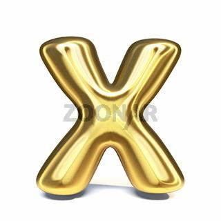 Golden font Letter X 3D