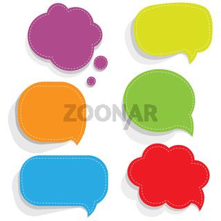 Color Paper Speech Bubbles