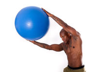 Athletic Man Stretching