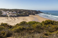 Odeceixe with Atlantic, Algarve, Portugal
