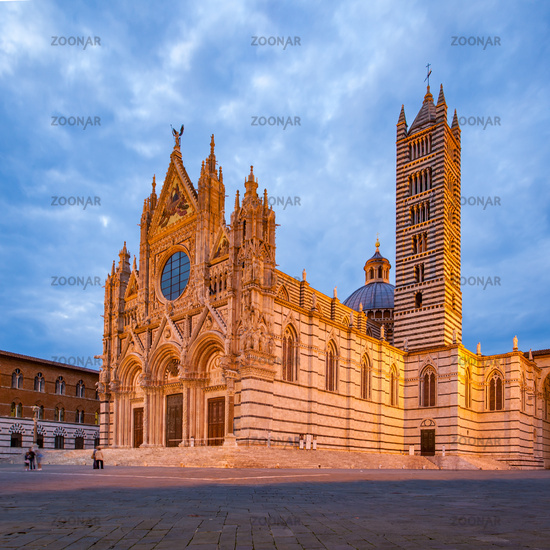 Siena Cathedral at dusk
