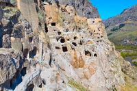 Vardzia cave monastery and city in rock, Georgia