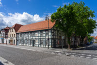 Streets of old town. Juterbog is a historic town in north-eastern Germany.