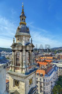 Tower of St. Stephen's Basilica, Budapest, Hungary