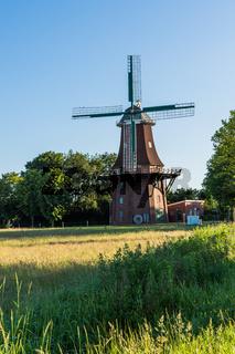 Sterrenbergsche Mühle, Galerieholländer, Upgant-Schott, Ostfriesland, Niedersachsen, Deutschland