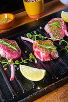 Seasoned and Herb Marinated Raw Lamb Chops