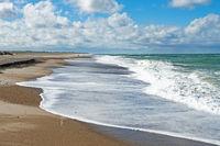 Beach on the Danish North Sea coast near Norre Vorupor in Jutland