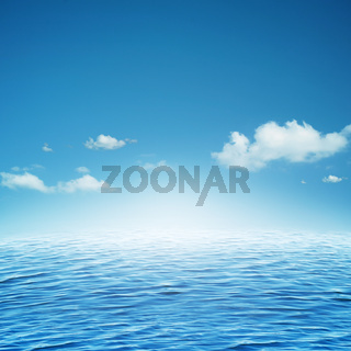 Sky and ocean. Abstract natural backgrounds