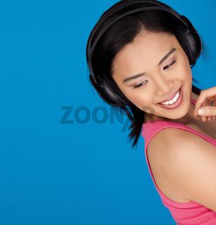Beautiful smiling young Asian girl