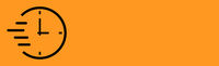 Hurrying clock, panoramic abstract orange background - Vector