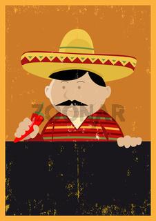 Grunge Mexican Chef Cook Menu