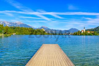 Lake Bled, a popular tourist destination in Slovenia