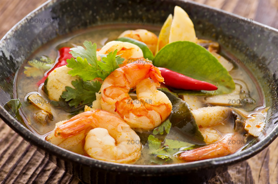 tom yam soup with seafood