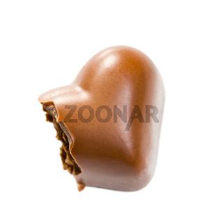 bitten chocolate heart