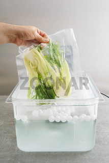 Sous vide cooking of fennel