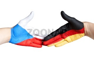 handshake between germany and czech republic
