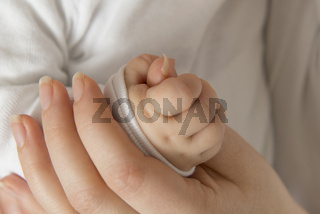 Mutter hält die Hand ihres Babys