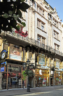 Váci utca , Einkaufsstrasse in Budapest