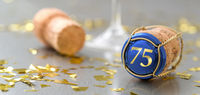 Champagne cap with the Number 75
