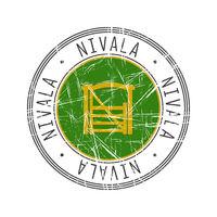 Nivala city postal rubber stamp