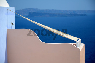 Sonnensegel - Santorin - Griechenland