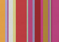 Cotton fabric texture printed with colorful stripes.