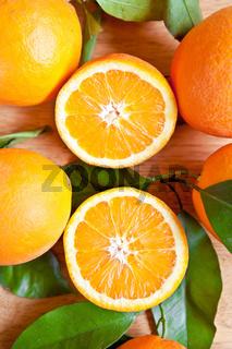 Friche reife Orangen