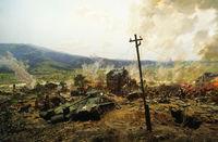 Life Size US Tank in the Korean War Diorama