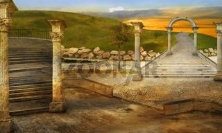 Ancient fancy exterior