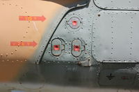 closeup view of helicopter