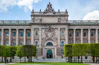 Riksdag - Parliament building in Stockholm