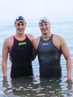 DSV Freiwasserschwimmer Linus Schwedler und  Rob Muffels SC Magdeburg