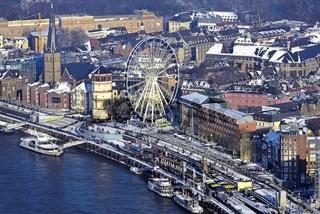 Die winterliche Düsseldorfer Altstadt