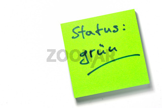Merkzettel Status grün