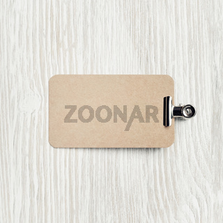 Business card and clip