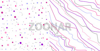 Trend background. Dots and lines texture pattern