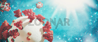 New covid-19 conoravirus outbreak. 3D illustration
