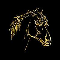 Head of a horse in gold