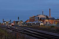 Bilder aus Halberstadt im Harz Sonnenuntergang Bahnhof