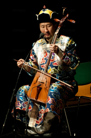 Mongolian horse fiddle musician