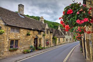 Cottages in Castle Combe, Cotswolds, UK