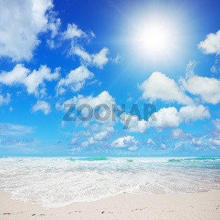 Spectacular tropical beach in sunny day