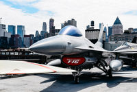 F-16 General Dynamics Aircraft in Intrepid museum in New York