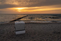 A Beach chair on the beach in Ahrenshoop, Mecklenburg-Western Pomerania, Germany