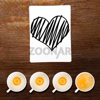 loving coffee.