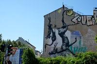 GRAFFITI ON WALLS IN KREUZBERG