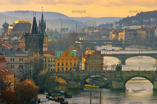 Prague bridges from above - Prague bridges aerial view 15